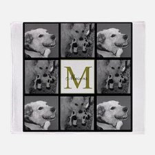 Beautiful Photo Block and Monogram Throw Blanket