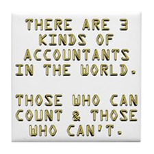 3 Accountants Tile Coaster