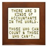 Accountant funny Framed Tiles
