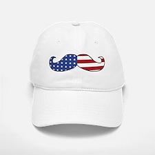 Patriotic Mustache Baseball Baseball Cap