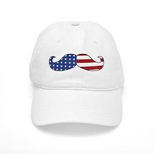Patriotic Mustache Baseball Cap