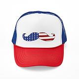 American mustache Trucker Hats
