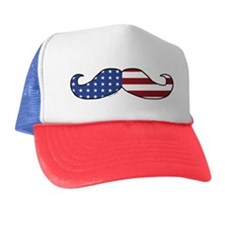 Patriotic Mustache Trucker Hat
