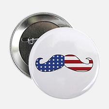 """Patriotic Mustache 2.25"""" Button (10 pack)"""