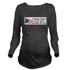 Cool Military Long Sleeve Maternity T-Shirt