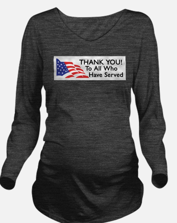 Cute Support our troops Long Sleeve Maternity T-Shirt