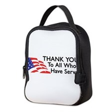 Cute Support our troops Neoprene Lunch Bag