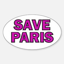 Save Paris Oval Decal