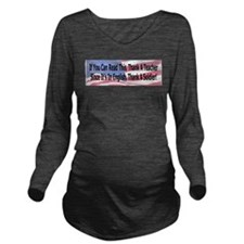 Cute Military Long Sleeve Maternity T-Shirt