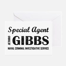 SPEC AGENT GIBBS Greeting Card
