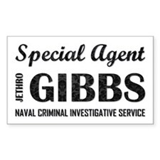 SPECIAL AGENT GIBBS Decal
