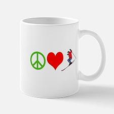 PEACE, LOVE, SKI Mugs