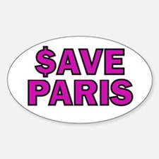 $ave Paris Oval Decal