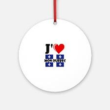 J'aime mon Quebec Round Ornament