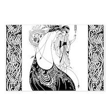 Art Nouveau Beardsley Peacock Skirt Postcards (Pac
