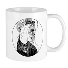 Art Nouveau Beardsley Peacock Skirt Mugs