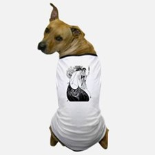 Art Nouveau Beardsley Peacock Skirt Dog T-Shirt