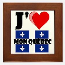 J'aime mon Quebec Framed Tile