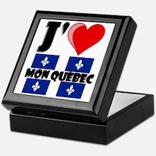 J'aime mon Quebec Keepsake Box