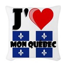 J'aime mon Quebec Woven Throw Pillow