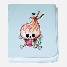 Skull Cupcake baby blanket
