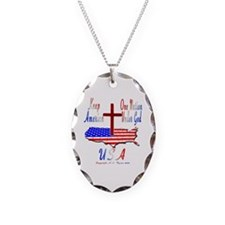 KEEP AMERICA ONE NATION UNDER  Necklace