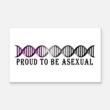 Asexual Pride DNA Rectangle Car Magnet