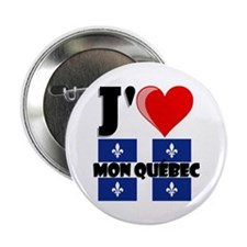 """J'aime mon Quebec 2.25"""" Button (10 pack)"""