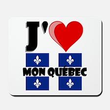 J'aime mon Quebec Mousepad