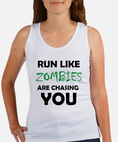 Run Like Zombies are Chasing You Women's Tank Top
