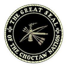 Choctaw Seal Round Car Magnet