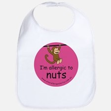 I'm allergic to nuts-pink Bib
