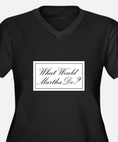 What Would Martha Do? Women's Plus Size V-Neck Dar