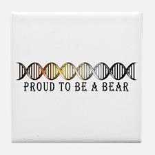 Gay Bear Pride DNA Tile Coaster