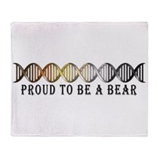 Gay Bear Pride DNA Throw Blanket