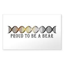 Gay Bear Pride DNA Decal