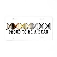 Gay Bear Pride DNA Aluminum License Plate