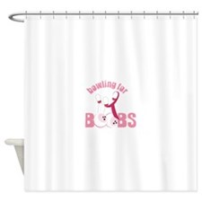 Bowling For Boobs Shower Curtain