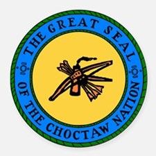 Great Seal Of The Choctaw Nation Round Car Magnet