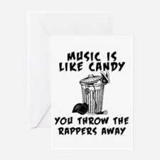 Music is Like Candy Greeting Cards