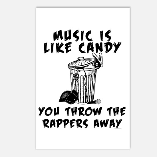 Music is Like Candy Postcards (Package of 8)