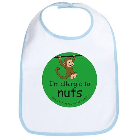 I'm allergic to nuts-green Bib