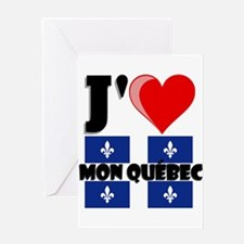 J'aime Mon Quebec Greeting Cards