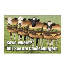 I See Cheeseburgers Postcards (Package of 8)