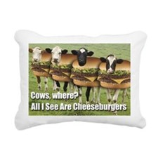 I See Cheeseburgers Rectangular Canvas Pillow