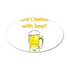 Better With Beer Wall Decal