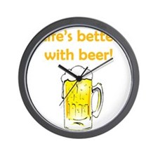 Better With Beer Wall Clock