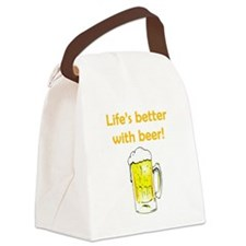 Better With Beer Canvas Lunch Bag