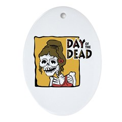 Day of The Dead Oval Ornament