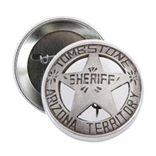 """Tombstone Sheriff Badge 2.25"""" Button"""
